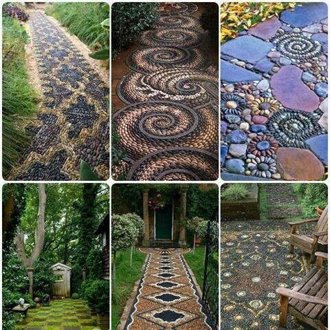Great ideas for the walk way.