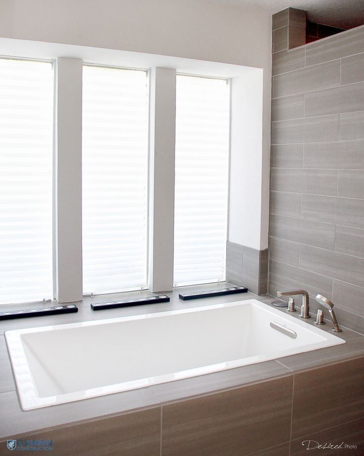 Drop In Bathroom Sinks Rectangular: Drop In Tub With Metro Tile Installed By Griffin