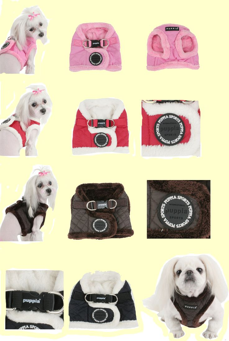 New Diamond (winter) Jacket Harness from Puppia!  This warm and cozy jacket harness is a 100% nylon diamond quilted pattern with fur trimmed, it comes in 4 great colour choices (pink, red, black or brown) and in 3 sizes (small, medium and large). This jacket harness retails for $24.00