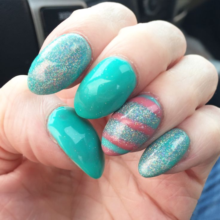 Tammy Taylor halo glitter spring Easter nails