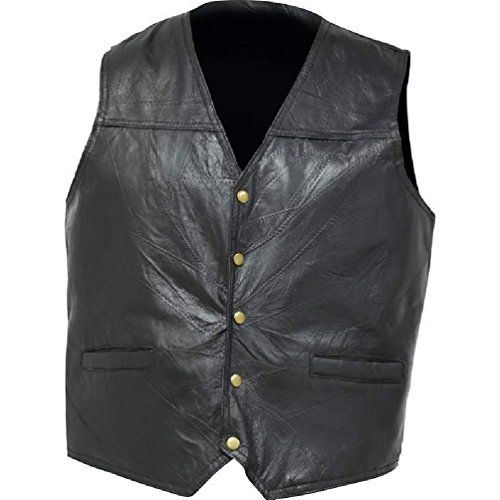 Men's Cycling Vests - Mens Black Leather Concealed Carry Vest Ccw Holster Pocket Motorcycle Biker ** Click on the image for additional details.