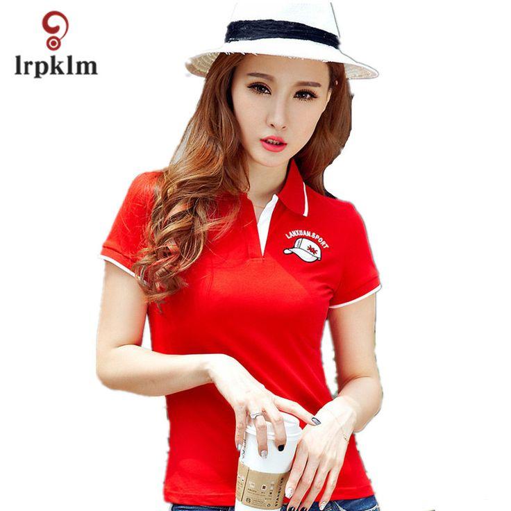 M-XXXL 2017 Summer Women White Polo Shirt Female Short Sleeve Lapel Pure Color Casual Shirts Lady Polo Brand Clothing YY759