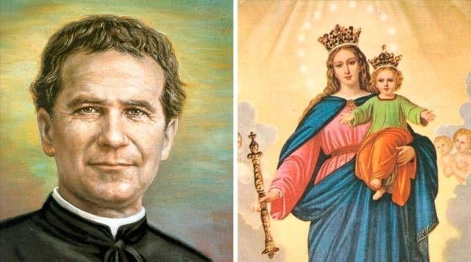 Don Bosco y María Auxiliadora. Imágenes dominio público