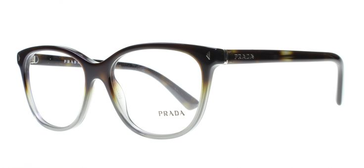 Prada PR14RV TKT1O1 Havana/Grey Designer Glasses