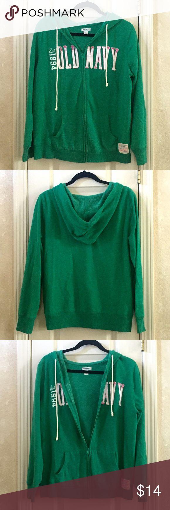 Old Navy Zip-Up Hoodie Green hoodie from Old Navy. Old Navy Tops Sweatshirts & Hoodies
