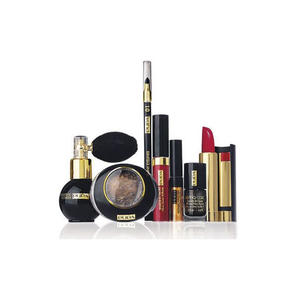 Pupa Black Gold Holiday Makeup Collection Makeup ❤ liked on Polyvore featuring beauty products, makeup, beauty, beleza, fillers, maquiagem, pupa makeup and pupa cosmetics