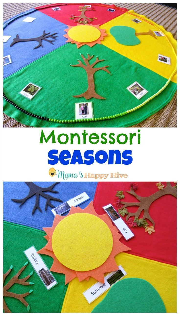 Enjoy 5 Montessori Seasonal Activities that include a beautiful year cycle mat…