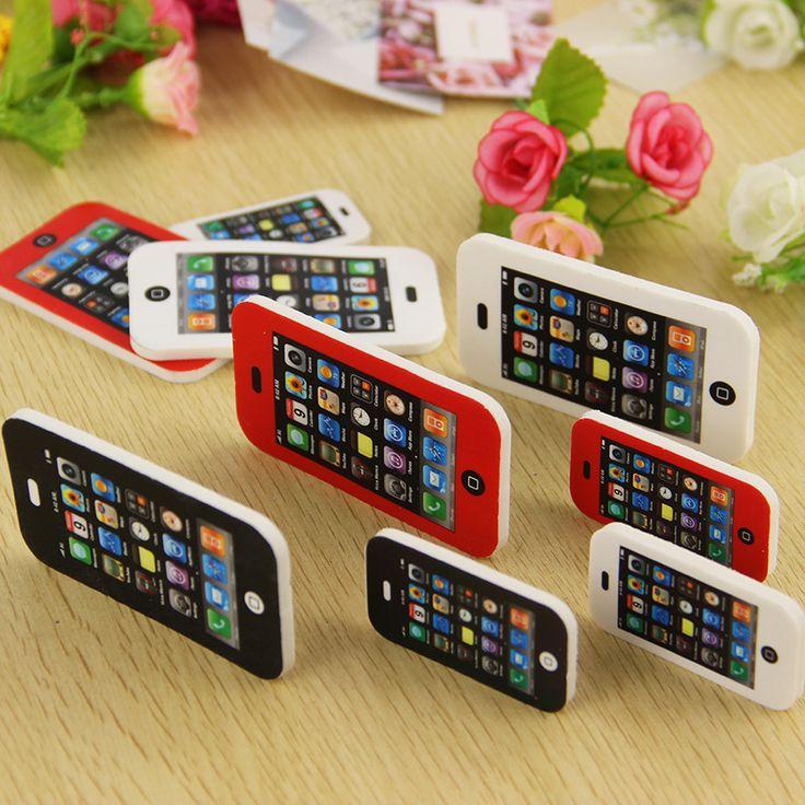 1pcs New Shape Phone Eraser Children Gift Sweet Stationery Office School Supplies