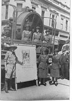 PH 13497. Australian Women's Army Service appeal for recruits, c1942.
