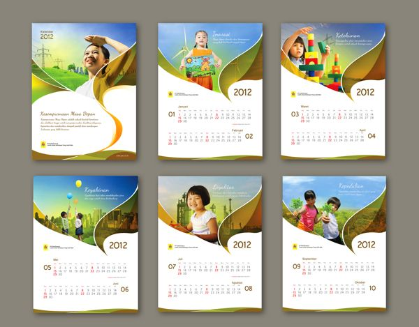 Calendar Cover Page Design : Best corporate calendar design images on pinterest