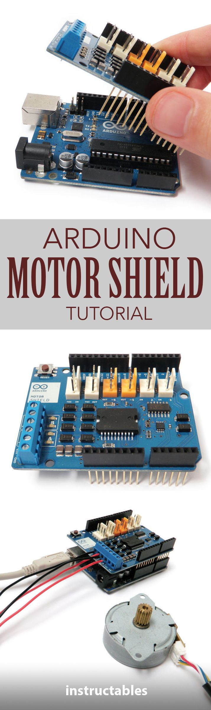 Easily control motor direction and speed using an Arduino.