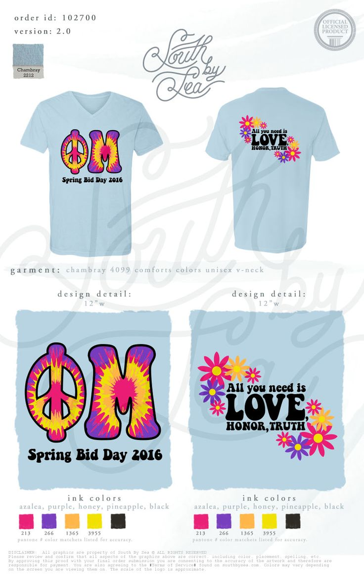 Phi Mu | Groovy T-Shirt Design | Hippie Bid Day Theme | All You Need is Love Honor and Truth | South by Sea | Greek Tee Shirts | Greek Tank Tops | Custom Apparel Design | Custom Greek Apparel | Sorority Tee Shirts | Sorority Tanks | Sorority Shirt Designs