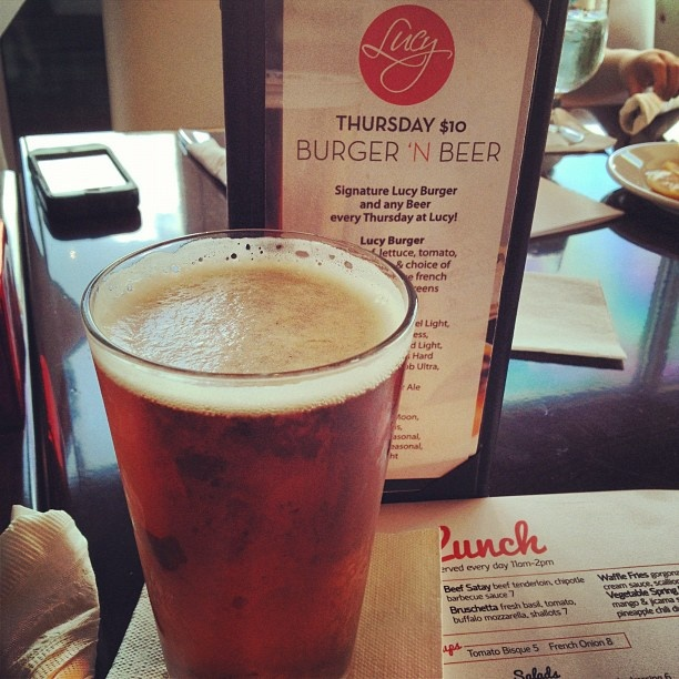 Lucy Restaurant - Greenwood Village, CO  Thursday $10 Burger 'N Beer