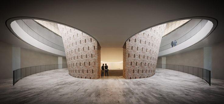 bamiyan cultural center proposal by luca poian forms