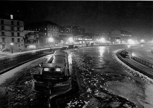Le canal Saint Martin – Hiver 1954 – Doisneau