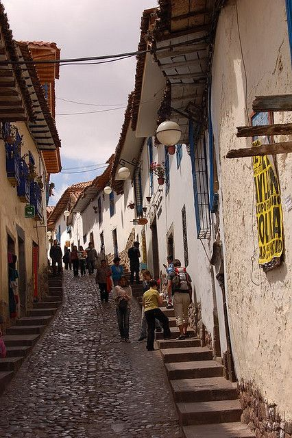 Colonial streets of Cusco, Peru