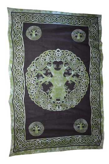 """Celtic Tree of Life 72"""" x 108"""" tapestry"""