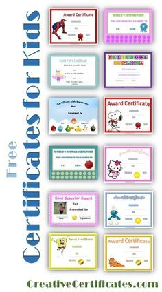 Free printable certificates for kids                                                                                                                                                                                 More