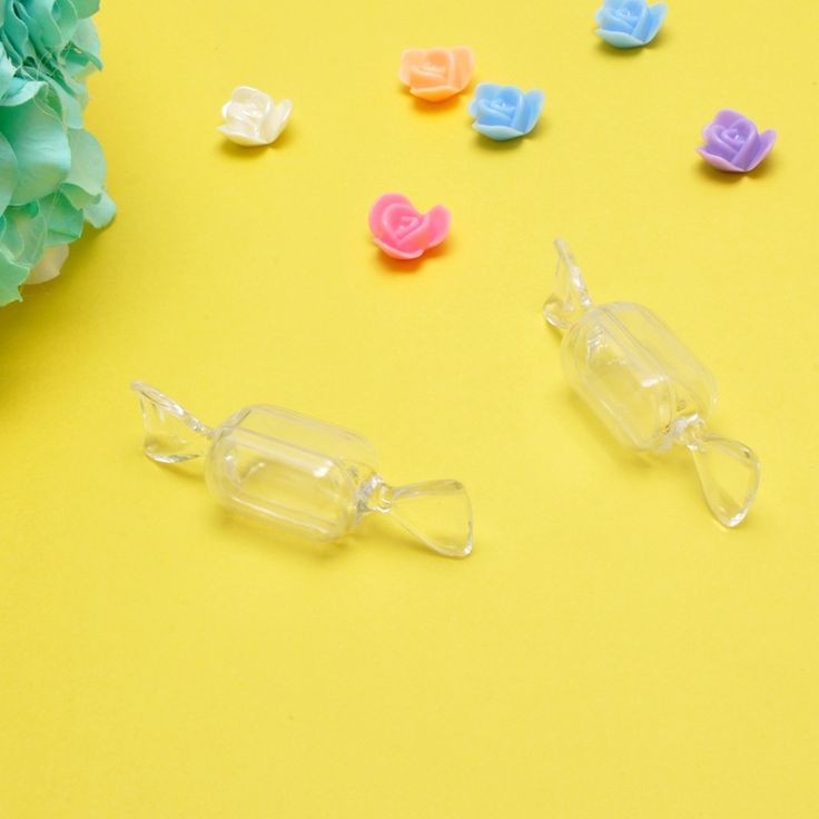 10/pcs Wedding Supplies Small Lovely Candy Shape Transparent Plastic Box Safe Food Grade Candy Creative Box #Affiliate