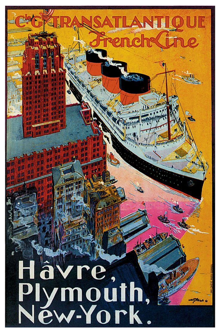 Vintage Poster _ Travels and Cruises  www.labandedesfaineantes.blogspot.it