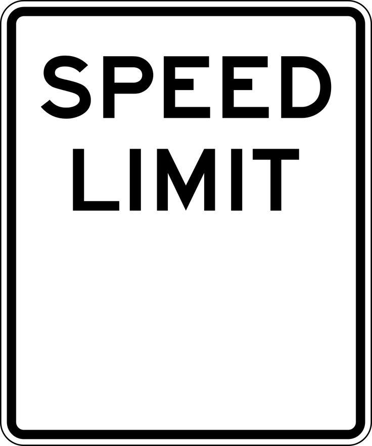 Speed Limit blank sign