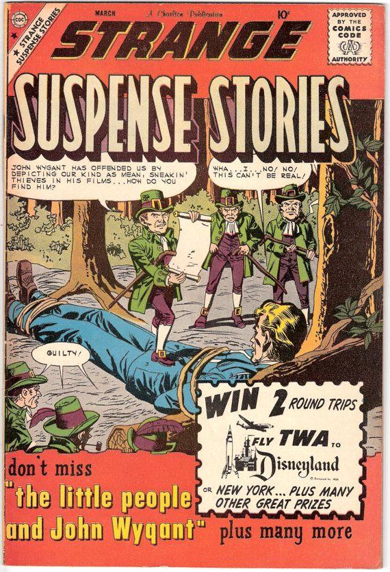 Strange Suspense Stories 46 Charlton Comics  Leprechaun Horror Aliens 1960 Scary Tales of Tension Comic VF by LifeofComics #comicbook