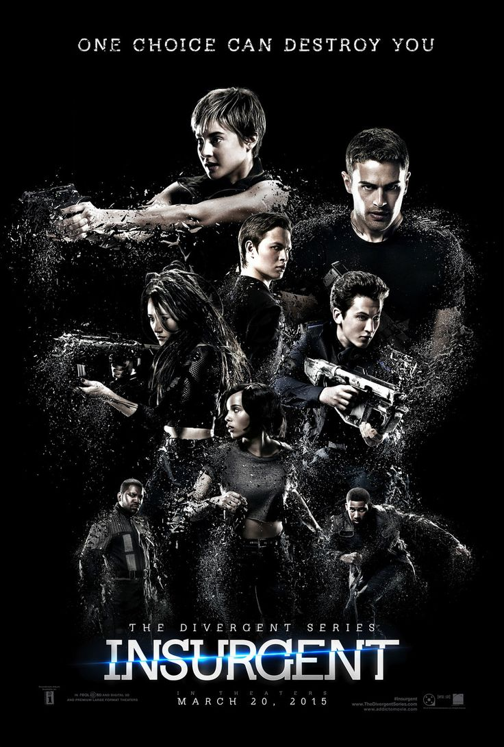 Insurgent by Veronica Roth. Movie release date: 3/20/2015. Click on the pin to learn more about the book. For information on the movie visit: http://www.imdb.com/title/tt2908446/?ref_=fn_al_tt_1