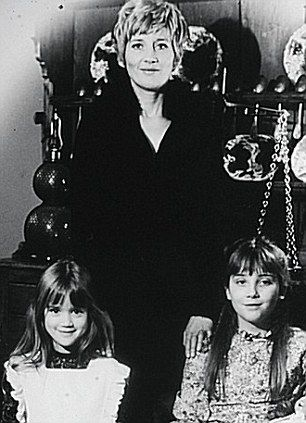 Emma Thompson as a child (right) with her mother, actress Phyllida Law, and younger sister Sophie