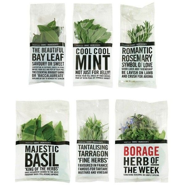 Waitrose Food Packaging ❤ liked on Polyvore featuring fillers, food, plants, food and drink and food & drinks