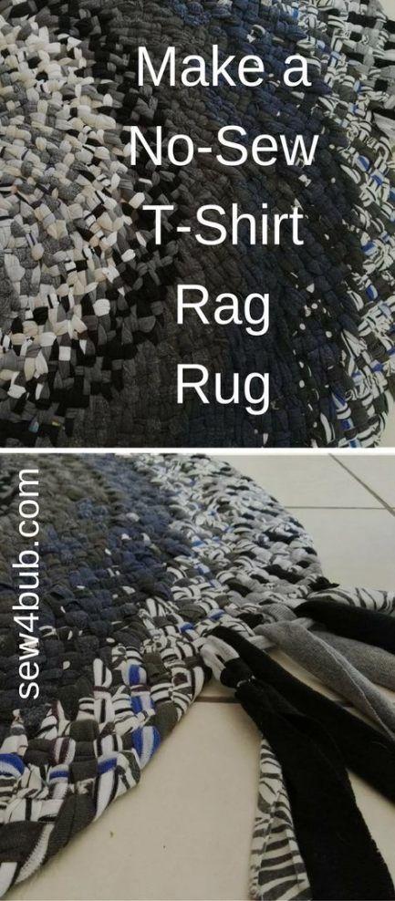 Nähen von Kleidung DIY Upcycling Rag Teppiche 58+ Ideen