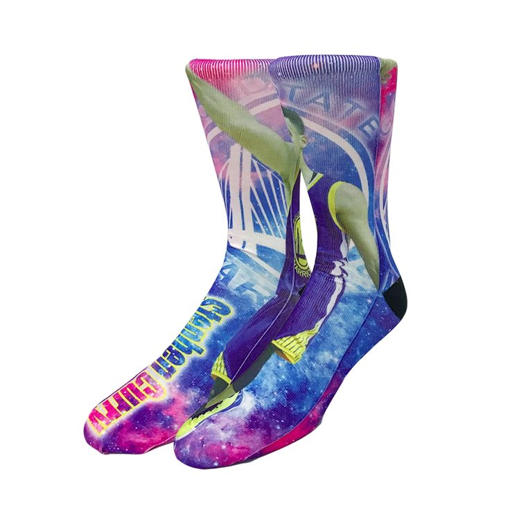EU38-46 Newly USA  Star 3D Printed Large Size Men's Long Socks 50 Colors Kobe Jordan Durant James Quality Odd Street Cool Sox