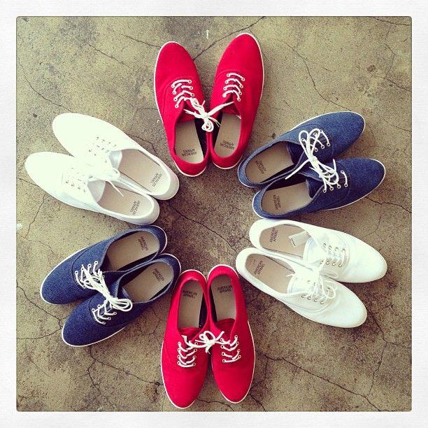#red #white #blue #shoes #fashion #4thofJuly
