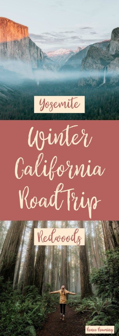Winter California Road Trip – Redwoods and Yosemite