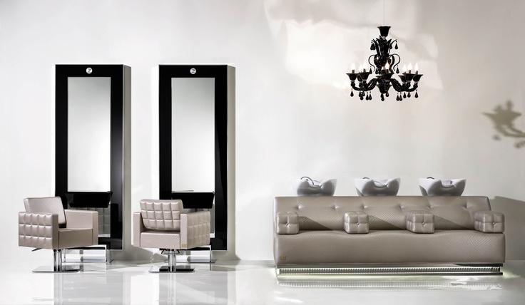 Pietranera Salon with Londra Optima Chairs, King Styling Units and Pashà Washunit  http://pietranera.com/html/vediambientazioni_all.html?lng=en_lang=2