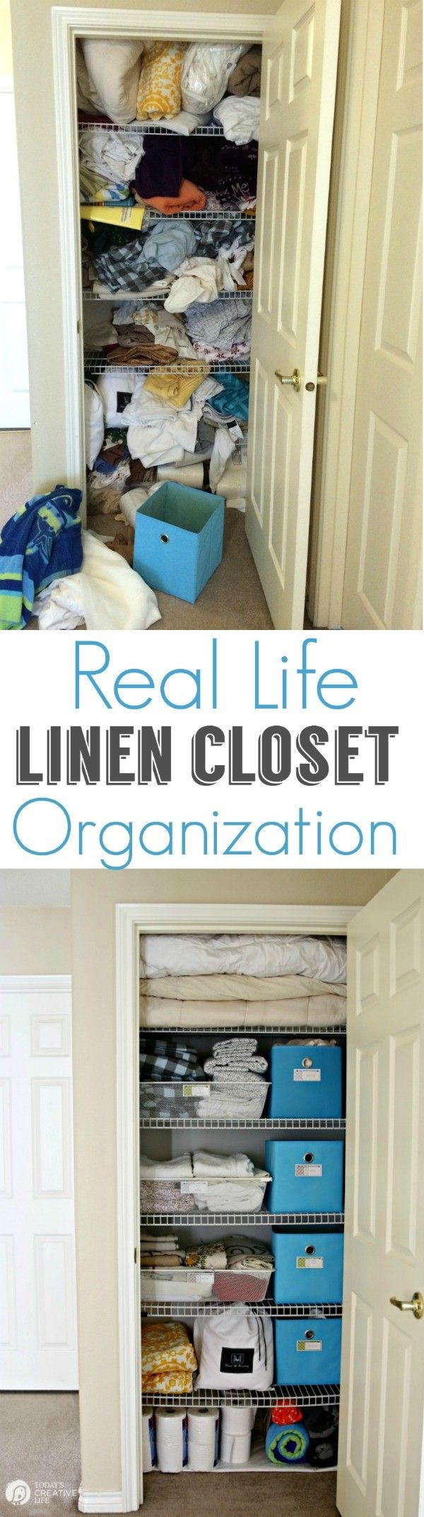 Organized Linen Closet For Real Life