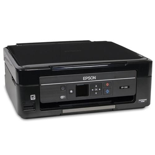 Epson Expression Home XP-330 USB 2.0/WiFi Color Inkjet Scanner Copier Photo Printer w/Card Reader & 1.44 LCD (No Ink)-B