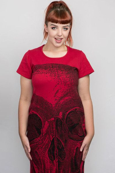 Skull Digital - Back Seam Cap Sleeve Dress