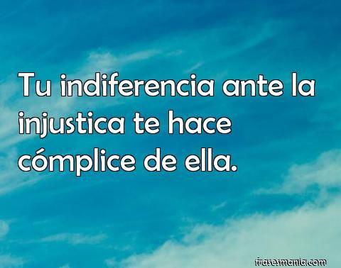 Cómplice de la injusticia