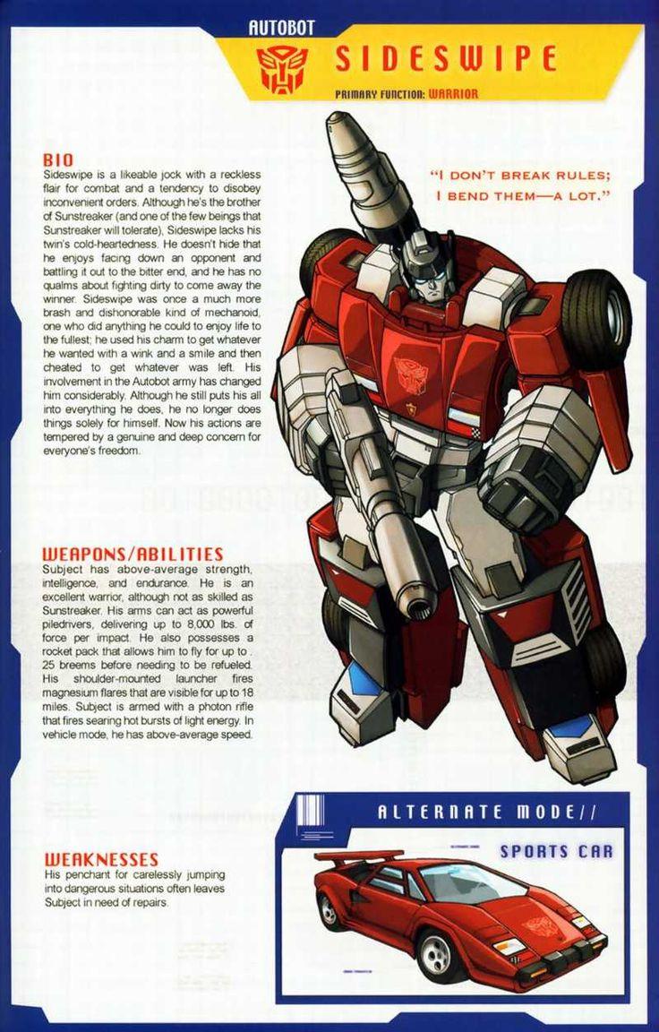 Transformers Universe - Gallery: G1 Sideswipe