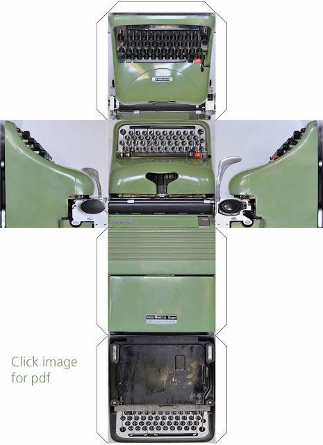 Printable :: graphicube typewriter