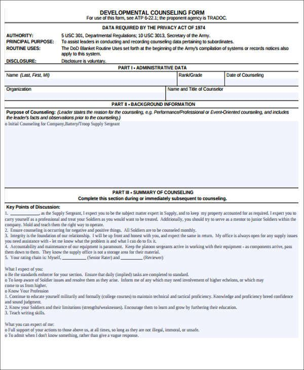 Army Counseling Form Check More At Https Cleverhippo Org Army Counseling Form