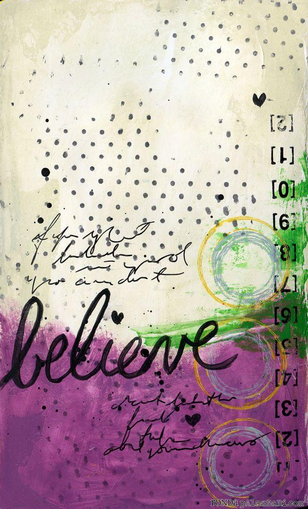 Ronda Palazzari  - Believe Art Journal page... <3