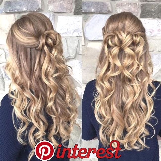 Perfect Prom Hairstyle For Long Hair Long Blonde Curls Prom