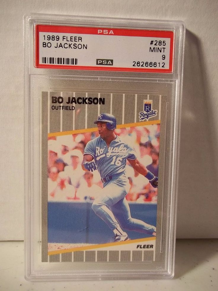 1989 Fleer Bo Jackson PSA Mint 9 Baseball Card #285 MLB Collectible #KansasCityRoyals