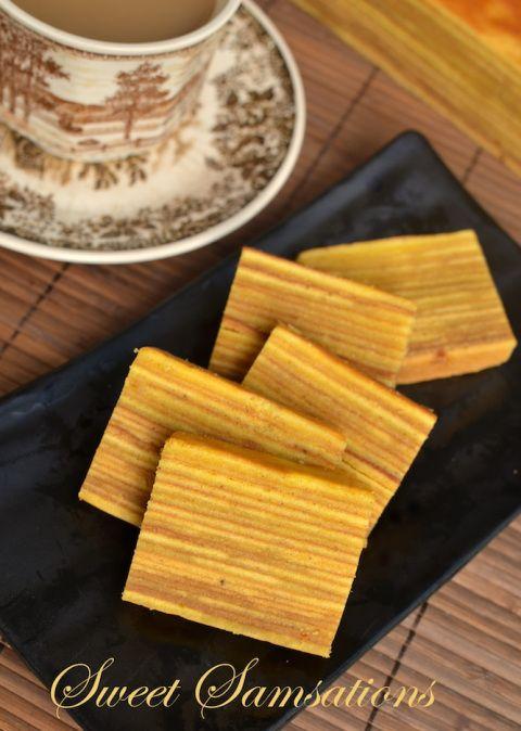 "Indonesian Kueh Lapis Legit - ""Thousand-Layer Spice Cake: Spekkoek Lapis Legit""  Read more at: http://www.foodnetwork.com/recipes/emeril-lagasse/thousand-layer-spice-cake-spekkoek-lapis-legit-recipe.html?oc=linkback"