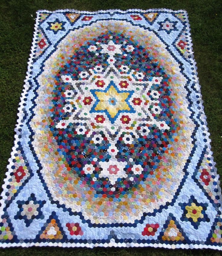 1981 best hexagon quilting images on pinterest