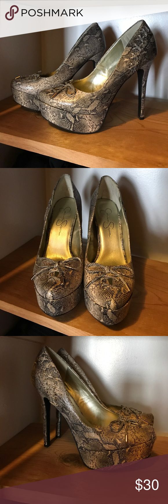 Jessica Simpson snakeskin pumps Jessica Simpson snakeskin pumps Jessica Simpson Shoes Heels