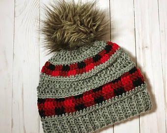 Peekaboo Xadrez Crochet Beanie SOMENTE PADRÃO