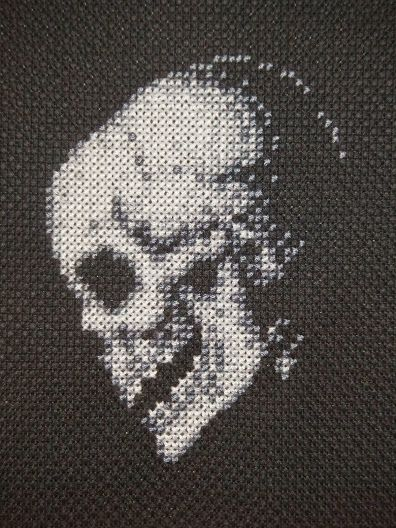 small skull cross stitch pattern - Google Search
