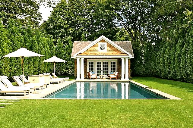 Backyard Pool House Enhance Your With A Pools Hommpools